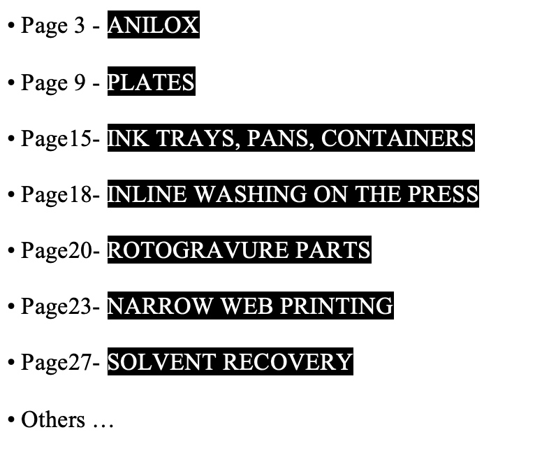Printing sector