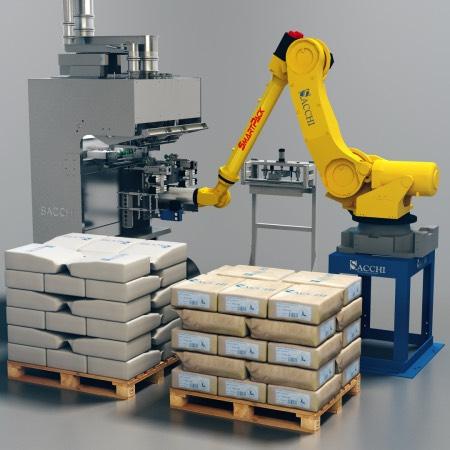 SmartPack_ bag filling and palletizing, bagging, sewing/welding and palletizing of industrial bags