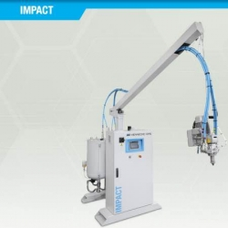 Impact-low pressure metering machine