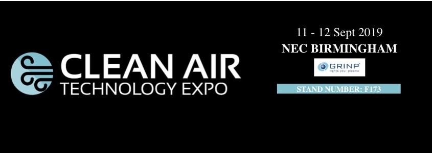 Clean air Exhibition 2019 september, Grinp CLEAN AIR TECHNOLOGY EXPO